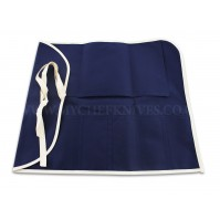 Japanese Canvas Roll Bag for 6 knives - blue