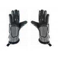 Pair of heat resistant professional gloves 32cm - cotton and silicone