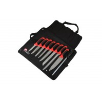 Pradel Excellence Cook's Roll Bag with 8 kitchen knives + 1 sharpening steel