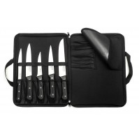 Sabatier Trompette Universal 5-piece Butcher Knife Bag Set