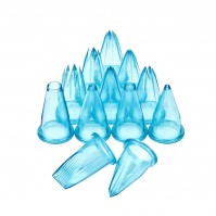 Deglon 12-piece set of blue polycarbonate nozzles