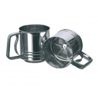 Matfer Stainless Steel Automatic Flour Sieve Cup - diameter 11cm