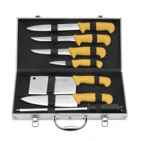 Albert de Thiers ECO Case with 6 knives + 1 sharpening steel