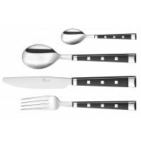 Pradel Excellence Belle Table 16-piece Cutlery Set - black handles