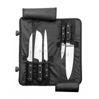 Sabatier Professional Knife Bag equipped with 5 kitchen knives
