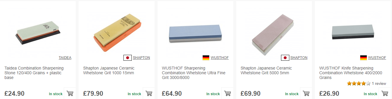 Buy a sharpening stone on MyChefKnives.co.uk