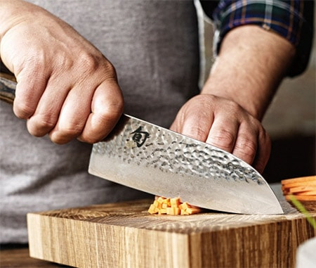 A beautiful santoku knife from the Tim Malzer series