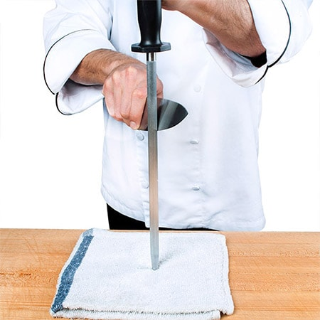 Sharpening a chef knife