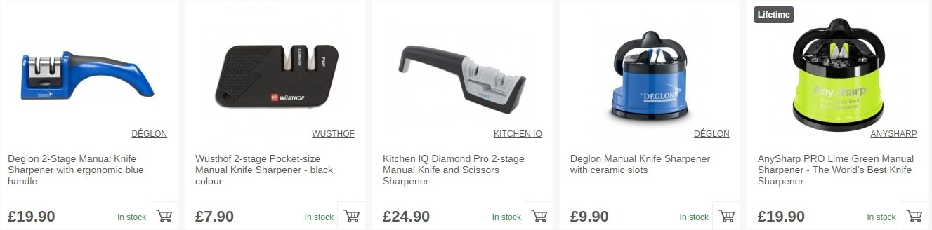 Discover our large selection of manual knife sharpeners!
