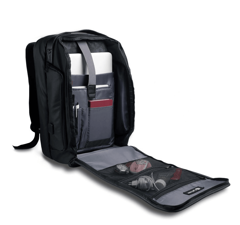 Inside of the Chefcase backpack