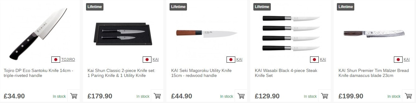 Shop Japanese knives now!